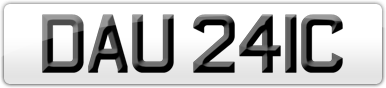 Plate image for registration plate DAU241C