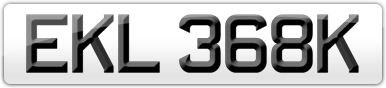 Plate image for registration plate EKL368K