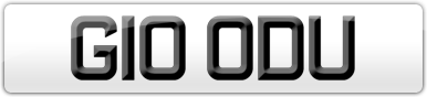 Plate image for registration plate G10ODU