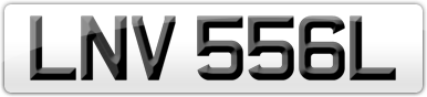 Plate image for registration plate LNV556L