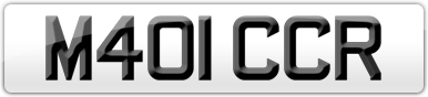 Plate image for registration plate M401CCR