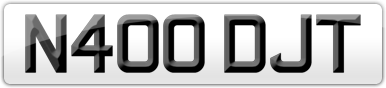 Plate image for registration plate N400DJT