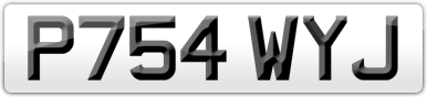 Plate image for registration plate P754WYJ