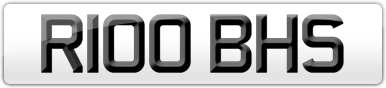 Plate image for registration plate R100BHS