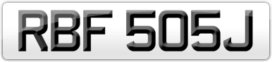 Plate image for registration plate RBF505J