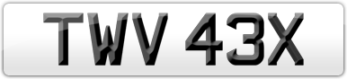 Plate image for registration plate TWV43X