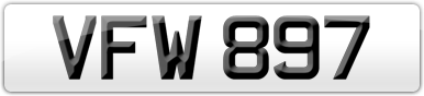 Plate image for registration plate VFW897