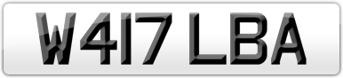 Plate image for registration plate W417LBA