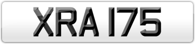 Plate image for registration plate XRA175