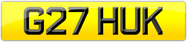 Plate image for registration plate G27HUK