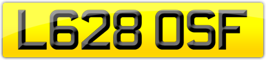 Plate image for registration plate L628OSF