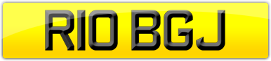 Plate image for registration plate R10BGJ