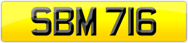 Plate image for registration plate SBM716
