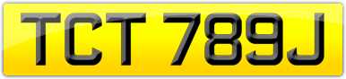 Plate image for registration plate TCT789J
