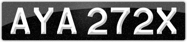 Plate image for registration plate AYA272X