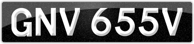 Plate image for registration plate GNV655V