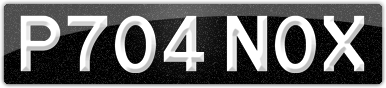 Plate image for registration plate P704NOX