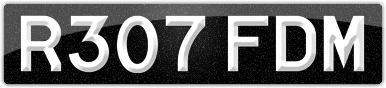 Plate image for registration plate R307FDM