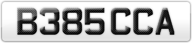 Plate image for registration plate B385CCA