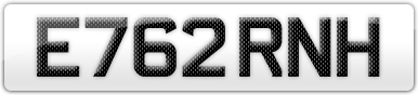 Plate image for registration plate E762RNH