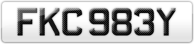 Plate image for registration plate FKC983Y