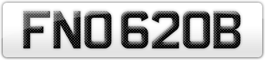 Plate image for registration plate FNO620B