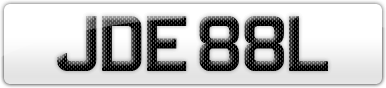 Plate image for registration plate JDE88L