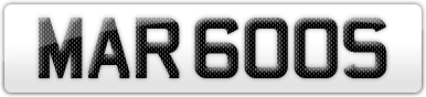 Plate image for registration plate MAR600S