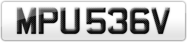 Plate image for registration plate MPU536V