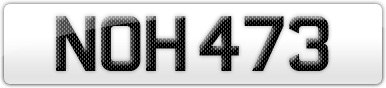 Plate image for registration plate NOH473