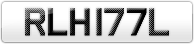Plate image for registration plate RLH177L