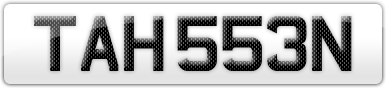 Plate image for registration plate TAH553N
