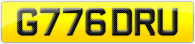 Plate image for registration plate G776DRU