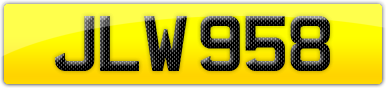Plate image for registration plate JLW958