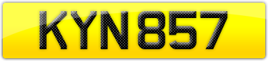Plate image for registration plate KYN857