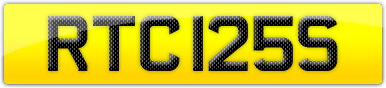 Plate image for registration plate RTC125S