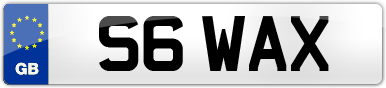 Plate image for registration plate S6WAX