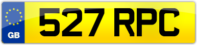 Plate image for registration plate 527RPC