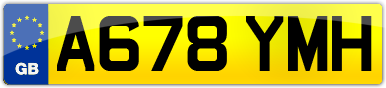 Plate image for registration plate A678YMH