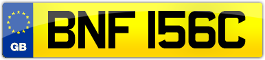 Plate image for registration plate BNF156C
