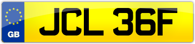 Plate image for registration plate JCL36F