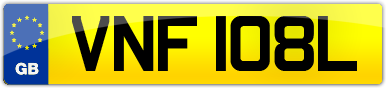 Plate image for registration plate VNF108L