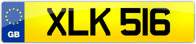 Plate image for registration plate XLK516
