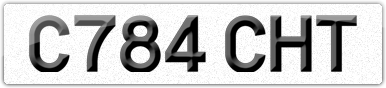 Plate image for registration plate C784CHT