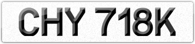 Plate image for registration plate CHY718K