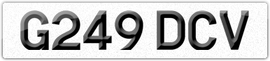 Plate image for registration plate G249DCV