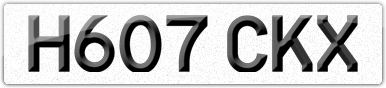 Plate image for registration plate H607CKX