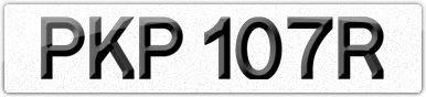 Plate image for registration plate PKP107R