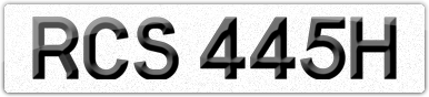 Plate image for registration plate RCS445H