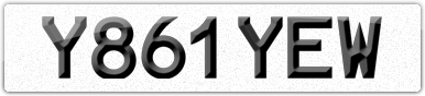 Plate image for registration plate Y861YEW